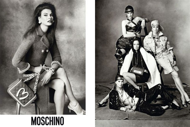 Moschino AW14 campaign by Steven Meisel