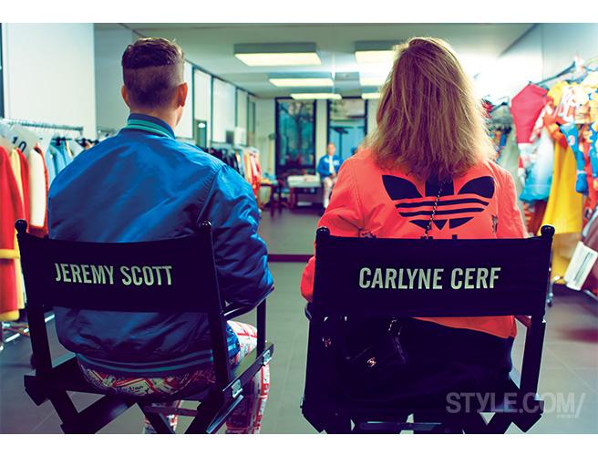 Jeremy Scott et Carlyne Cerf de Durzeele (source style.Com)